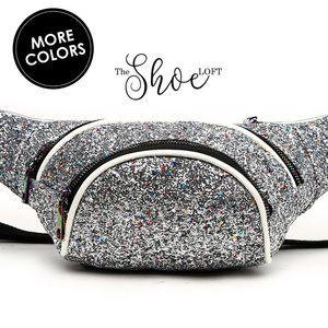 Glittered Fanny Pack Belt Bag or Crossbody